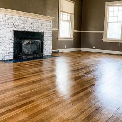 Customer photo of shiny floors
